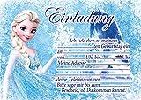 10 Einladungen zum Kindergeburtstag Die Eiskönigin Frozen Invitations in German (mit weißen Umschlägen)