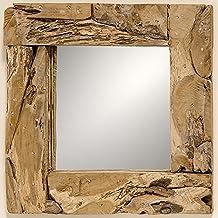 Espejo de Pared en Madera de Teca Alto 50 cm