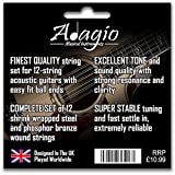 Adagio Professional \'12-String\' Acoustic Guitar Strings Pack