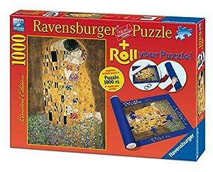 Ravensburger - Roll your puzzle + puzzle 1000 piezas, diseño Klimt: El beso (19910 6)