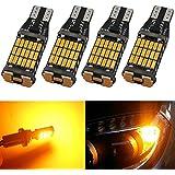 4-Pack 921912T10T15Ambre/jaune 800lumens 12V-24V Non-polarity extrêmement lumineux CANBUS sans erreur Ak-401445pcs Chipsets ampoules LED pour Side Marker lumière de frein ampoule