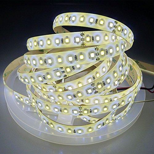LTRGBW Super Bright impermeabile IP65 2835 SMD 24V 600leds Bi-color doppio bianca calda fredda la temperatura colore fredda regolabile strisce LED flessibili Ribbon luce della lampada 16.4ft (5m)