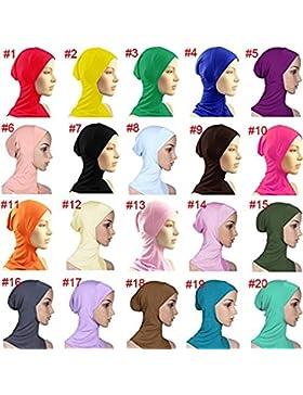 hrph En virtud de la bufanda del casquillo del sombrero del capo del hueso Cabeza Hijab islámico desgaste del...
