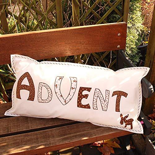 Kissen, Advent, Dekokissen, mit Inlet, Applikation, individualisierbar, Unikat, Geschenk, Herbstdeko