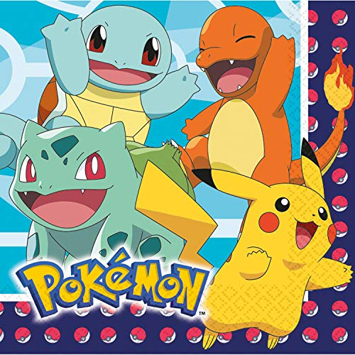 amscan Pokemon Luncheon Napkins 16pk