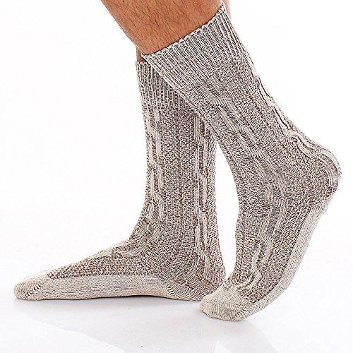 95X5 Trachten Socken Kniestrümpfe Trachtensocken Grau Gr. 42
