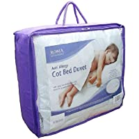 Roma Anti Allergy Microfibre Baby / Toddler 9 Tog Cotbed Or Junior Bed Duvet - Suitable from 12 Months - Top Quality - Super Soft!