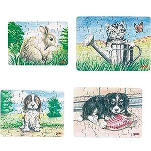 Mini-puzzles animaux - GOKI - 57653