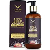 Steelbird Hair Care Apple Cider Vinegar Shampoo - No Parabens, Sulphates, Silicones, Color & Peg ; (ACV SHAMPOO 300ml) : DERM