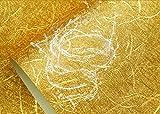 MeaosyBlattgold Blattsilber Wasserfeste Tapeten Gemustert Kabel Dach Decke Lampe Durch Die Decke Ktv-Haus Golden Wall Paper.