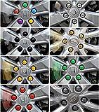 Copridadi esagonali universali per bulloni per ruote da 17mm, kit da 20 copridadi standard e autobloccanti, con estrattore, adatti per qualsiasi auto, silvery