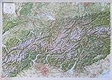 3D Reliefkarte Alpen 1:500.000