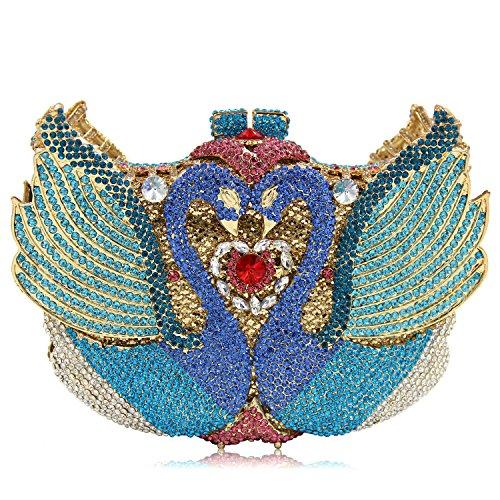 Luxus Diamond Abendtasche Handtasche Damen bevorzugten Hochzeit Kupplung Geldbeutel F