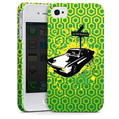 Apple iPhone X Silikon Hülle Case Schutzhülle Fahrzeug Oldtimer Retro Premium Case glänzend