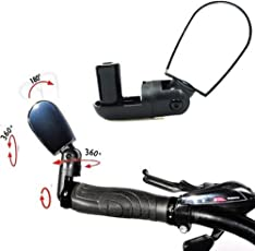Adjustable MTB Bike Bicycle Cycling Rearview Mirror Glass Mini Small Iron Handlebar (02 Pcs.)