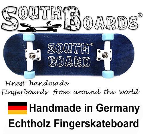 Komplett Fingerskateboard BL/WS/BL SOUTHBOARDS® Handmade Wood Fingerboard Echtholz