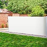 Purovi Seitenmarkise ausziehbar | Seitenrollo 180 x 300 cm | Sichtschutz & Windschutz für Balkon, Garten, Terrasse | Beige