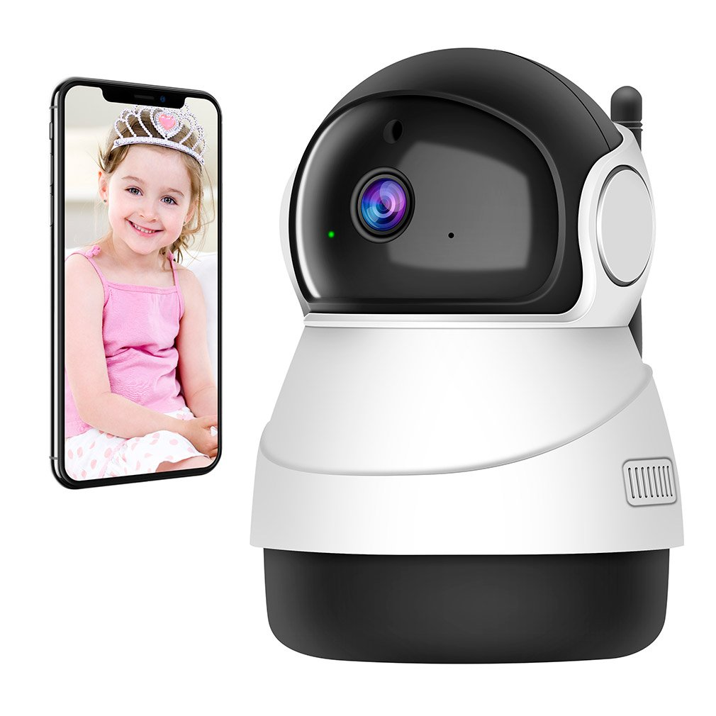 Accfly Home Camera 1080P Wireless Wifi Indoor Camera with IP Security Surveillance System and Night Vision for Baby/Pet…