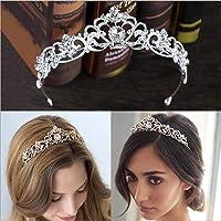 Simsly Wedding Diadem Brautblumenkronen für Frauen HG-23