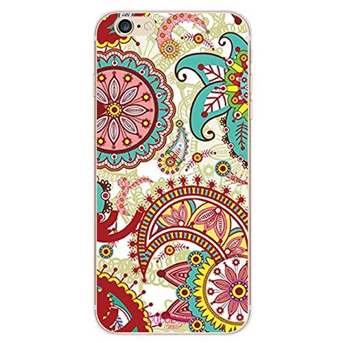 BubbleGum für iPhoneModelle, Henna Mehndi-Muster, creativ, transparent, 5, iPhone 5 5s 5se 5