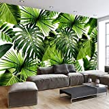 XZCWWH Asie Du Sud-Est - Forêt Tropicale Humide Feuille De Bananier 3D Photo Papier Peint Revêtement Mural Revêtement De Sol Salon Chambre Mur Papier Peint,90cm(W)×50cm(H)