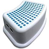 Addis 617666 Kids Bathroom Booster Step Stool, navy teal, Item dimensions L 24 W 36.5 H 13 centimeters