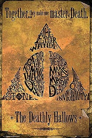 Poster Harry Potter et les Reliques de la Mort (61cm x 91,5cm) + un joli emballage cadeau