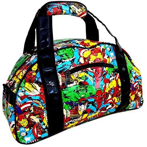 Marvel Comics Large Retro Comic Strip Gym Uni Sports Duffle Weekend Bag Holdall