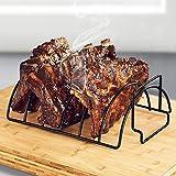 BBQ Rib Rack Nicht-Stick Metall Drahtständer Grill Steak Halter Braten Rib Rack BBQ Zubehör Küche Werkzeug Grill Steak Halter Braten Rib Rack Küchenwerkzeug