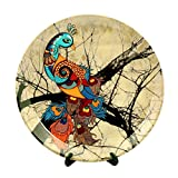 #9: Kolorobia Charismatic Peacock Home Decor Wall Plate 10