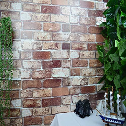 Carta da parati autoadesiva antica del mattone del mattone mattone retro carta da parati bianca mattone grigio mattone giallo mattone carta da parati mattone cachi nuvola 0.45m * 9.8m