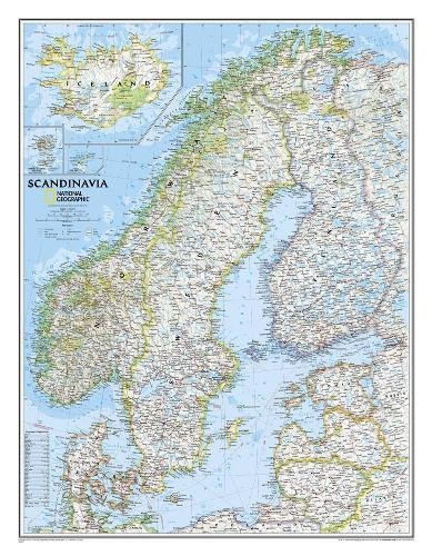 Skandinavien, laminiert: 1:2765000: PP.NG622072 (Reference - Countries & Regions)