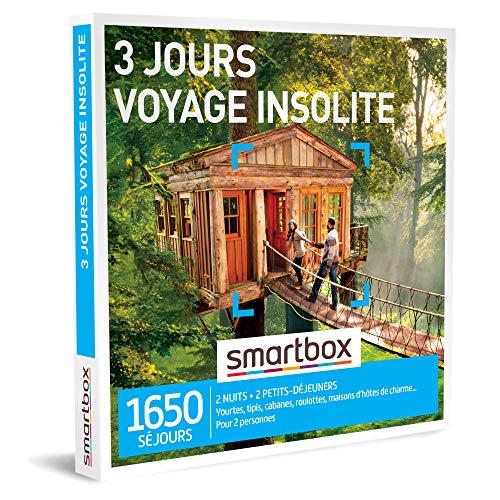 SMARTBOX - Coffret Cadeau homme femme couple - 3 jours voyage insolite - idée cadeau...