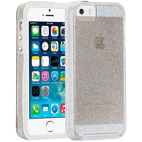 Case-Mate Sheer Glam Schutzhülle für Apple iPhone SE/5S/5 in champagner [Transparent | Glitzereffekt | Hybrid   Stoßfester TPU-Bumper] - CM034268