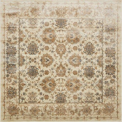 8 Square-beige-teppich (Moderner traditionellen Stockholm zeitgenössischen Bereich Teppich, beige, 8 x 8 square)