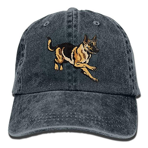 Denim Baseball Cap Dog German Shepherd Unisex Snapback Washed -