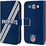Official NFL Stripes New England Patriots Logo Leather Book Wallet Case Cover For Samsung Galaxy S3 III I9300