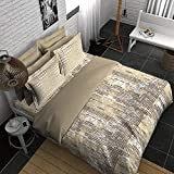 Boutique Living India-300TC King Size Cotton Printed with 2 Pillow Covers Bedsheet Set-(274cm x 274cm) Decimal