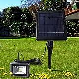 XYDM LED-Solar-Scheinwerfer 2 in 1 Wand In-Boden Landschaftsbeleuchtung im Freien Hohe Helligkeit Auffahrt Licht 90 Grad Einstellbare Wasserdichte Rasen Lampe Terrasse Wandleuchte Flutlicht