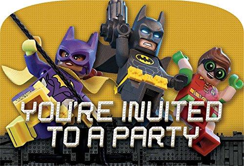 Preisvergleich Produktbild LEGO Batman Film Party Einladungen 8Stück