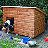 Large Pent Dog Kennel With It's Simplistic & Attractive Design Extremely Practical With A Lifting Lid (With Lid Stay) And Is 100% FSC® Certified Softwood - Able To Accomodate A Large Or Two Small To Medium Sized Dogs