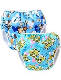 Teamoy Pañal Bañador (2 piezas) Pañal de natar Pantalones de entrenamiento