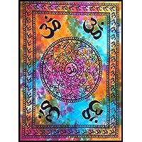 BellaMira - Tapiz indio de meditación de algodón Om Gayatritra Mantra Tie  Dye Popular Póster Tamaño 30 x 40 pulgadas Love Yoga Mat Playa Manta Toalla  ... 80b5a76f0383
