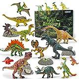 GizmoVine Dinosauri Giocattoli 20 Pezzi Dinosauro Mobile da 13-23 CM,Compreso Tyrannosaurus Rex, Triceratopo Giochi Neonati Giocattoli Educativi per la Regalo di Compleanno per Ragazzi Bambini