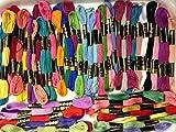 100 madejas de hilo de algodón, punto de cruz, hilo de algodón
