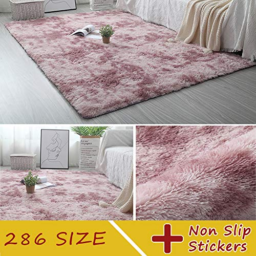 MODKOY alfombras pie Cama Lavable Tejidas Shaggy Ultra Suave Sheepskin Rug Cordero...