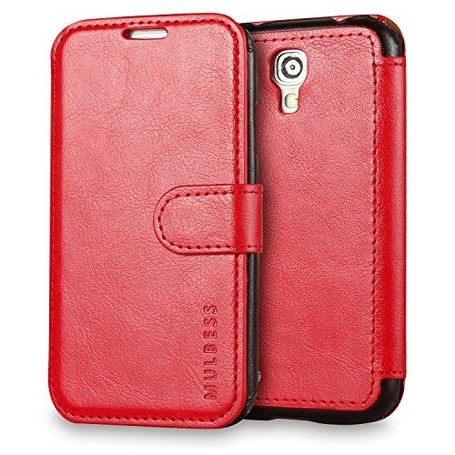 Custodia Galaxy S4 - Cover Galaxy S4 - Mulbess Custodia In Pelle Con Flip Cover Per Samsung Galaxy S4 Custodia Pelle Vino Rosso