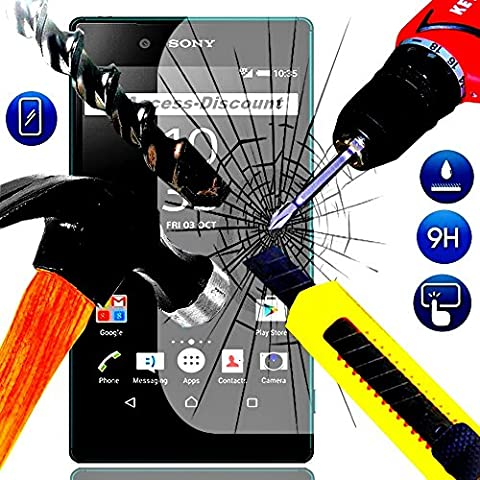 PACK A&D® FILM PROTECTION Ecran en VERRE Trempé pour SONY XPERIA Z5 COMPACT filtre protecteur d'écran INVISIBLE & INRAYABLE vitre INCASSABLE pour Smartphone Xpéria Z 5 mini Compacte 4G E5803 E5823 double dual sim (ULTRA TRANSPARENT)