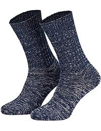 Tobeni 5 Paires de Chaussettes Jeans Originales en 100 Coton pour Femme et Homme
