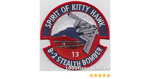 USAF B-2 Stealth Bomber Spirit of Kitty Hawk Embroidered Patch LAST FEW